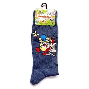 Nickelodeon Ren and Stimpy 90s Cartoon Socks